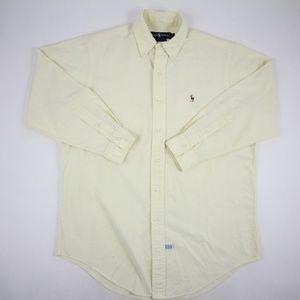 Ralph Lauren Mens Dress Shirt Light Yellow Size 15